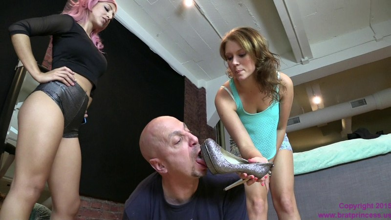 Brat Princess 2 - Alexa and Kendall - Fired Lackey Begs for Job Licking Shoes