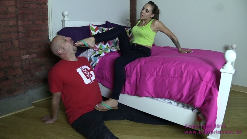 Brat Princess 2 - Sasha Foxx - Shopping was fun now lick my flip flops