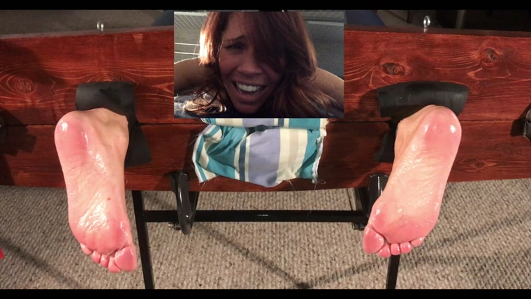 TheStocksStudio - Veronika Tickled in Stocks - Barefoot