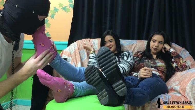 Two Girls Pantyhose Feet