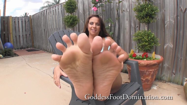 Goddess Foot Domination - Goddess Brianna - POV Sunbathing Foot Licking