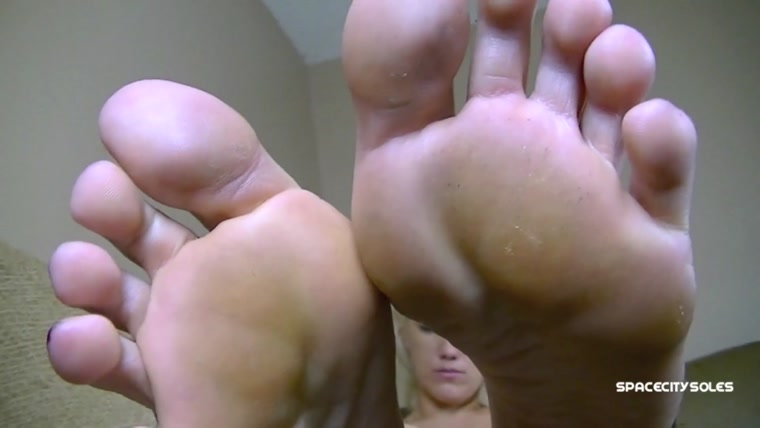 Mandy's feet on the couch