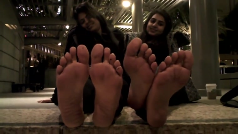 Two Indian Lady's Discuss Stinky Feet