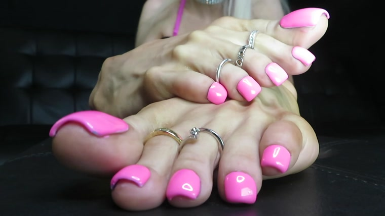 Britteni Feet - Pink Toes in your Face JOI