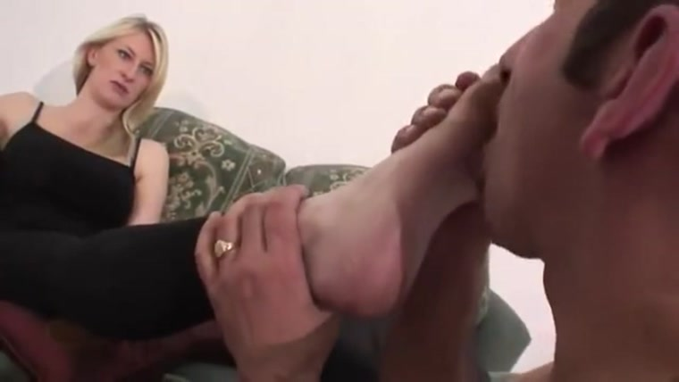 Femdom Machine - Mistress Katie Moore - Extremely dirty black feet