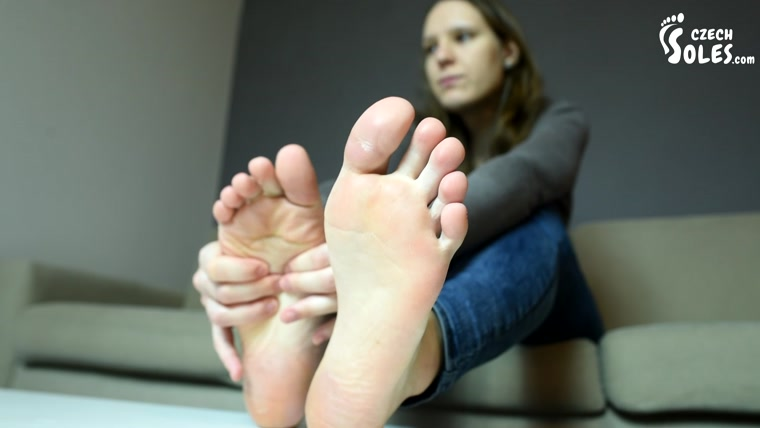 Czech Soles - Foot Measuring With Czech Footgirl Ivet