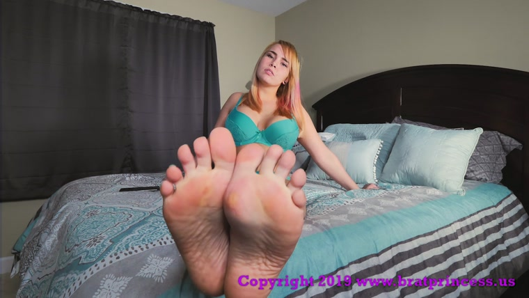Brat Princess Natalya - The Job Of A Foot Bitch Is Never Done