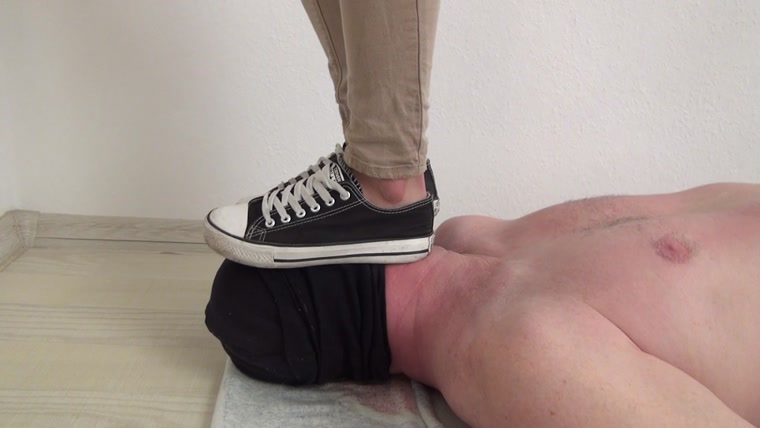 Foot Fetish Beauties - Candy trampling and face standing
