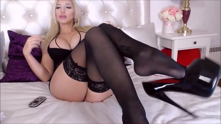 Black Stockings Solo Tease