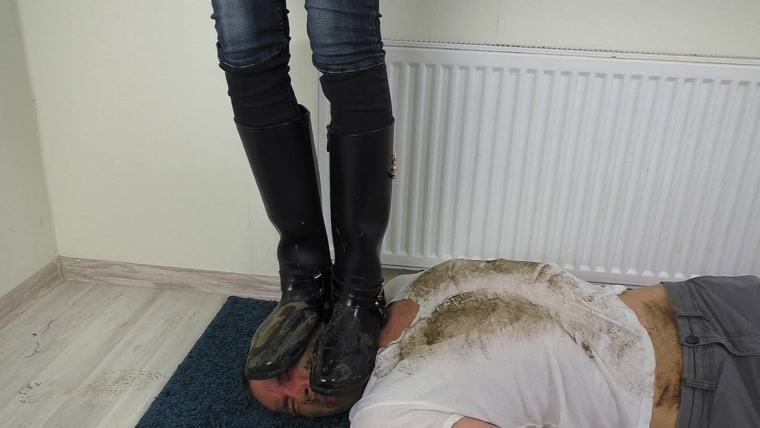 Smashed Face Under Dirty Boots
