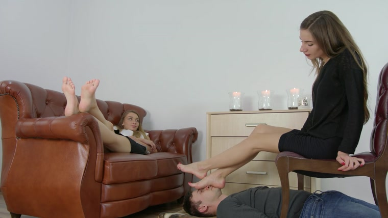 Polish Mistress - Larisa And Helena - In Foot Fetish Club