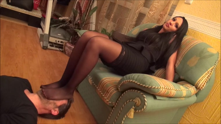 ADRIANNA - 'Stockings Fiesta' - EXTREME Footsmother and Breath Control Under Stockings