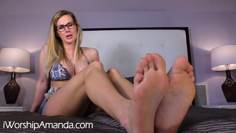 Worship Amanda - Humiliating Foot Worship JOI