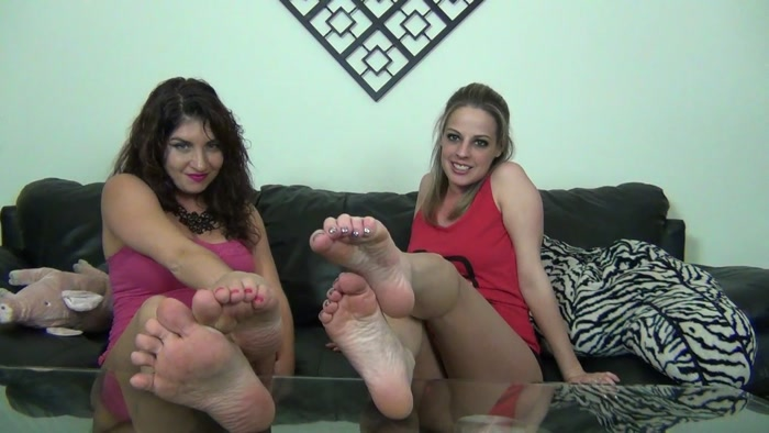 Sarah, Roxie - Barefoot Humiliation and JOI