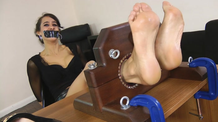 UK Tickling – Hot Secretary Angelina Teases and Gets a Relentless Tickle Session!