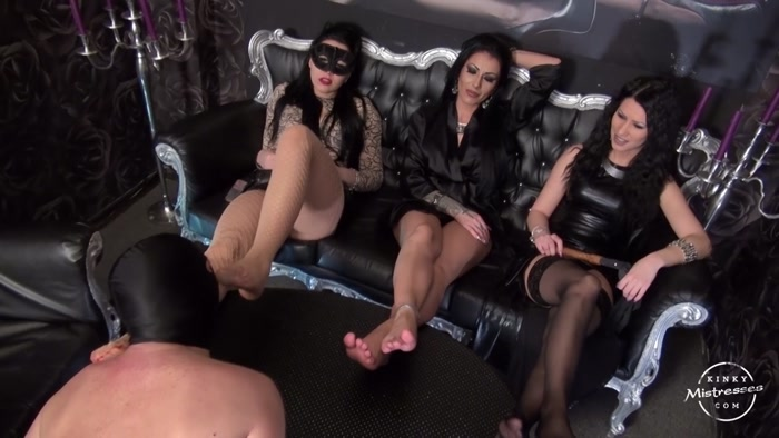 Mistress Gaia, Mistress Kennya, Mistress Lexa - Foot Fetish With 3 Ladies