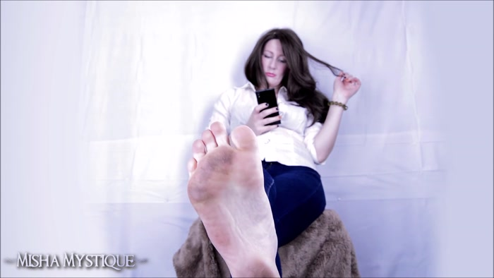 Misha Mystique - Dirty Feet Filthy Soles in Jeans Ignore