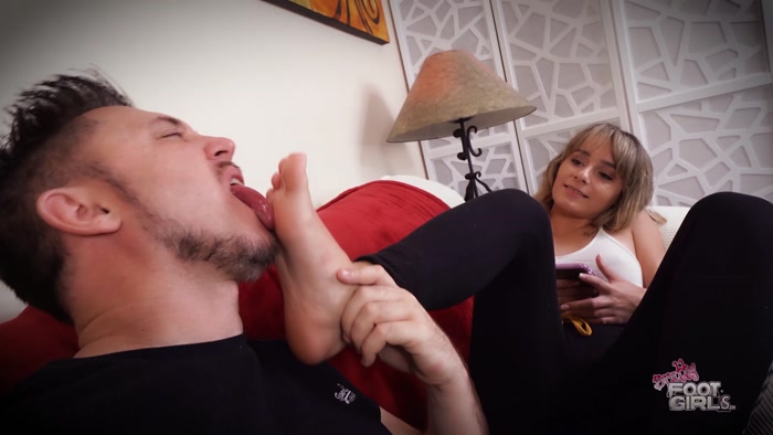 Anna Mae - Blackmailed into licking 21 yr old sisters Soles