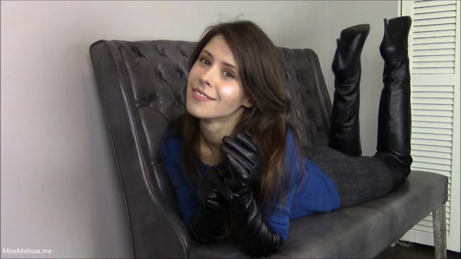 Miss Melissa - Foot Worship and Chastity for Leather Crazed BF